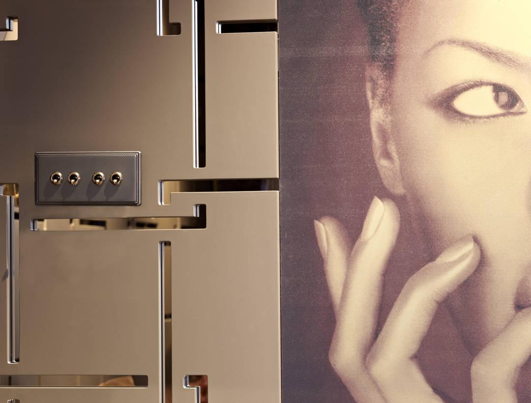 interruptor de 4 con foto chica , 1950 patinné 6654