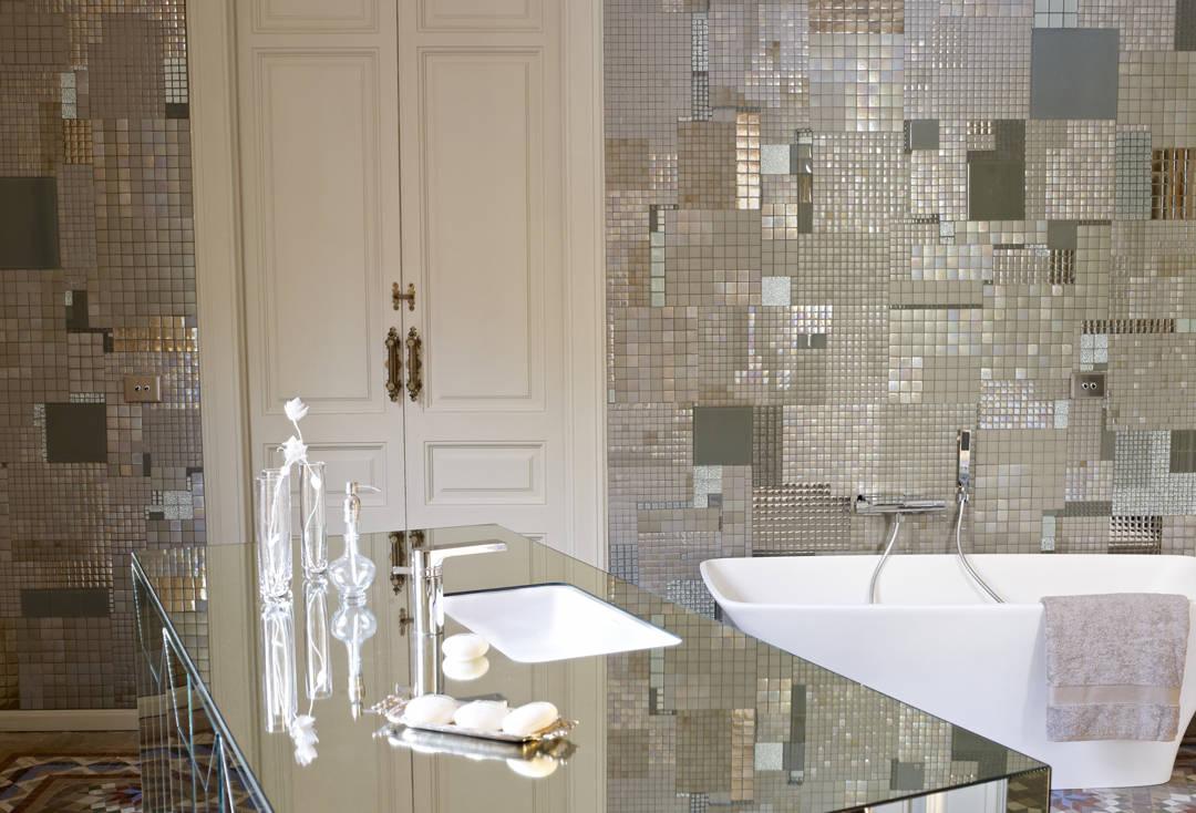 mosaïque de lavabo